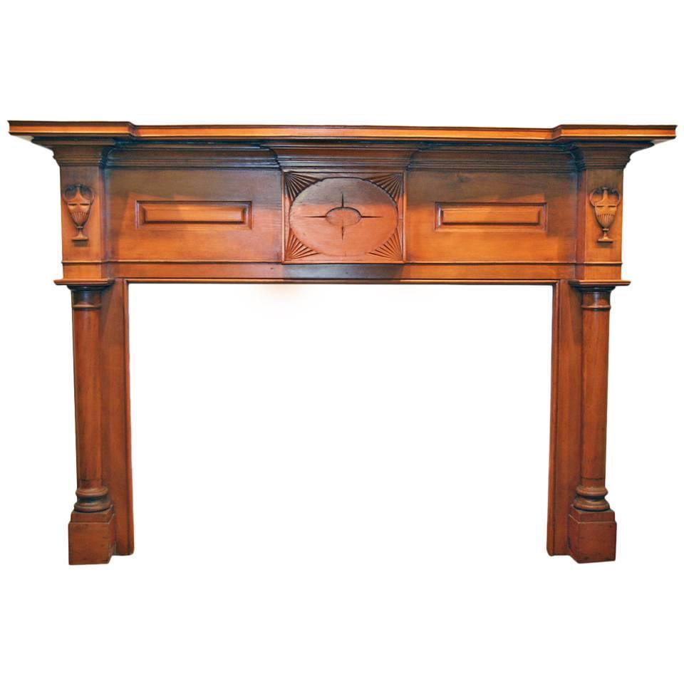 Antique American Federal Style Wood Mantel For Sale At 1stdibs