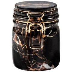 Miss Marble Portoro Jar by Lorenza Bozzoli for Editions Milano