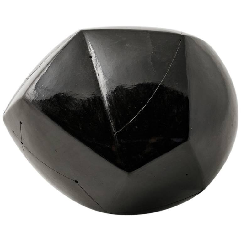 Elegant Black Ceramic Sculpture by Nadia Pasquer