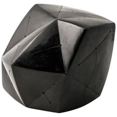 Elegant Black Ceramic Abstract Sculpture by Nadia Pasquer