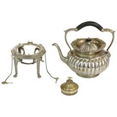 Antique Edwardian Sterling Silver Tea Kettle by William Hutton & Sons Ltd
