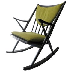 Danish Frank Reenskaug for Bramin Møbler Rocking Chair Ebony