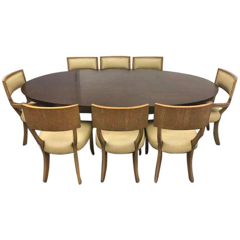 Michael Berman Mansfield Table and Eight Klismos Chairs at  : 9009421master from www.1stdibs.com size 768 x 768 jpeg 43kB