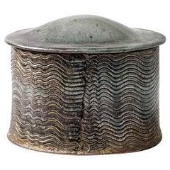 Decorative Ceramic Box by Antoine de Vinck, circa 1960