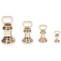 Set of Four Brass Imperial Avoir Standard Weights for Plymouth