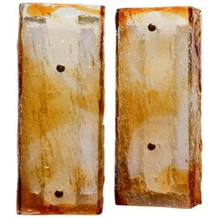 Large Pair of Sconces by Mazzega