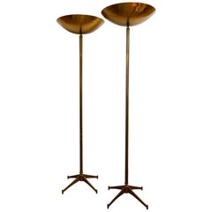 Large Pair of 1970s Floor Lamps