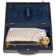 Leather Cased Portable Chapman Hunter Pitchometer, circa 1916