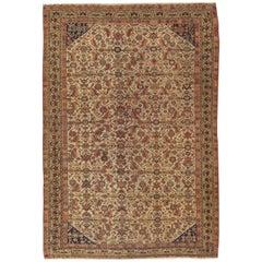 Antique Qashgai Rug, handmade oriental rug, ivory ground Crica 1890