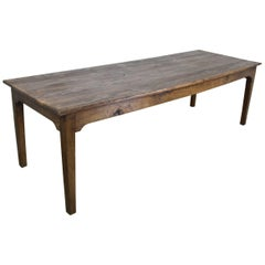 Long Antique French Pine Farm Table