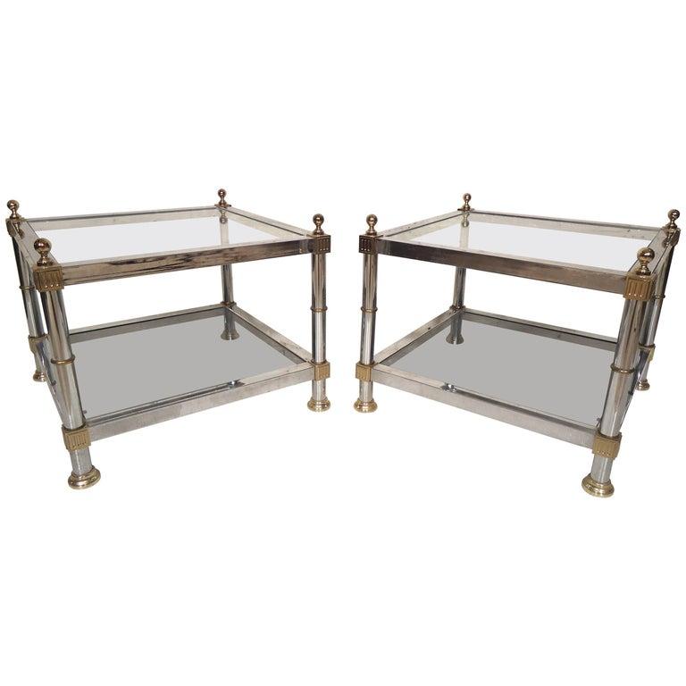 Pair of Hollywood Regency Side Tables