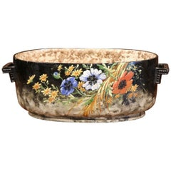 Early 20th Century, French, Hand-painted Jardinière from Montigny-sur-Loing