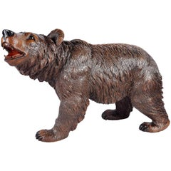 Black Forest Carved Wood Bear, 19th Century