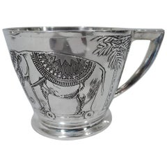 Antique American Sterling Silver Circus Baby Cup by Kerr