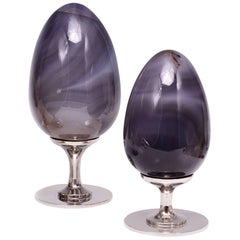 Group of Two Natural Agate Sculptures