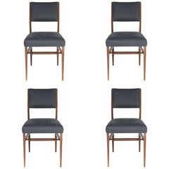 Set of Four Maze Walnut Dining Chairs