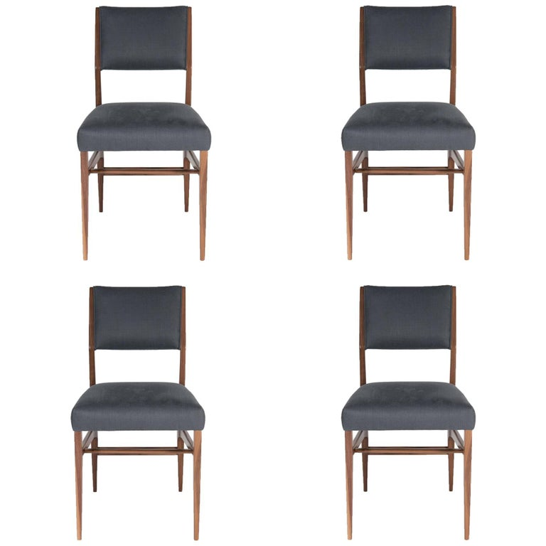 Dining Chairs Chicago: 8 Vintage Walnut Johnson Chair Co. Chicago Dining Chairs