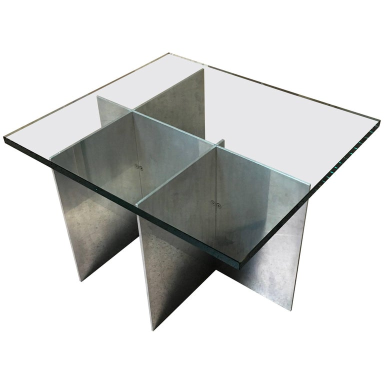 Architectural Side Table by Paul Mayen