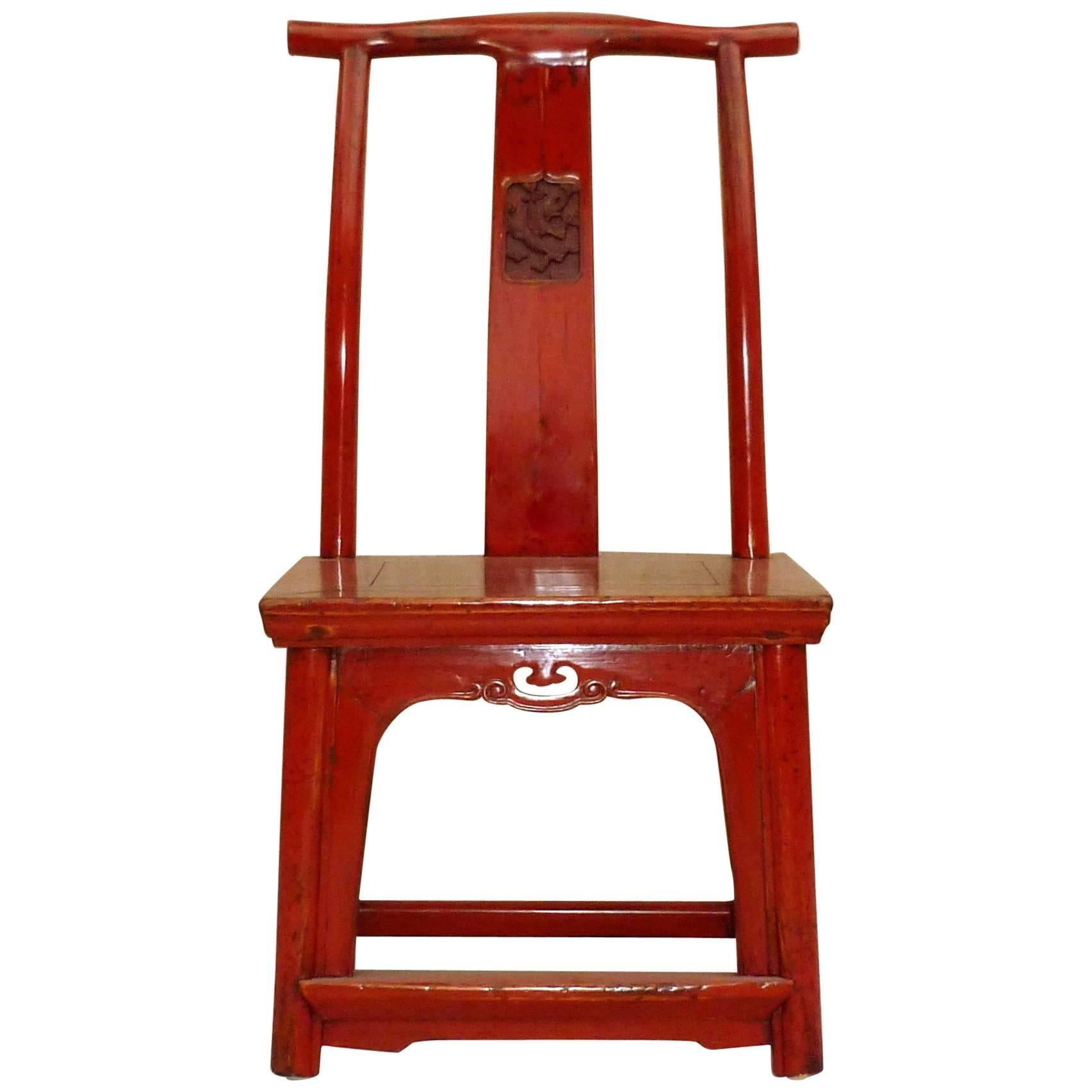 Red Lacquer Child's Chair