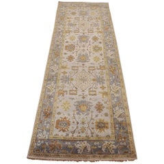Cream Wide Oushak Gallery Runner