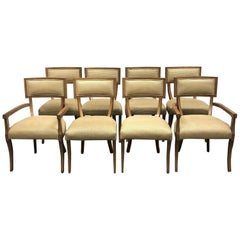 Michael Berman Set of Eight Grad Klismos Chairs