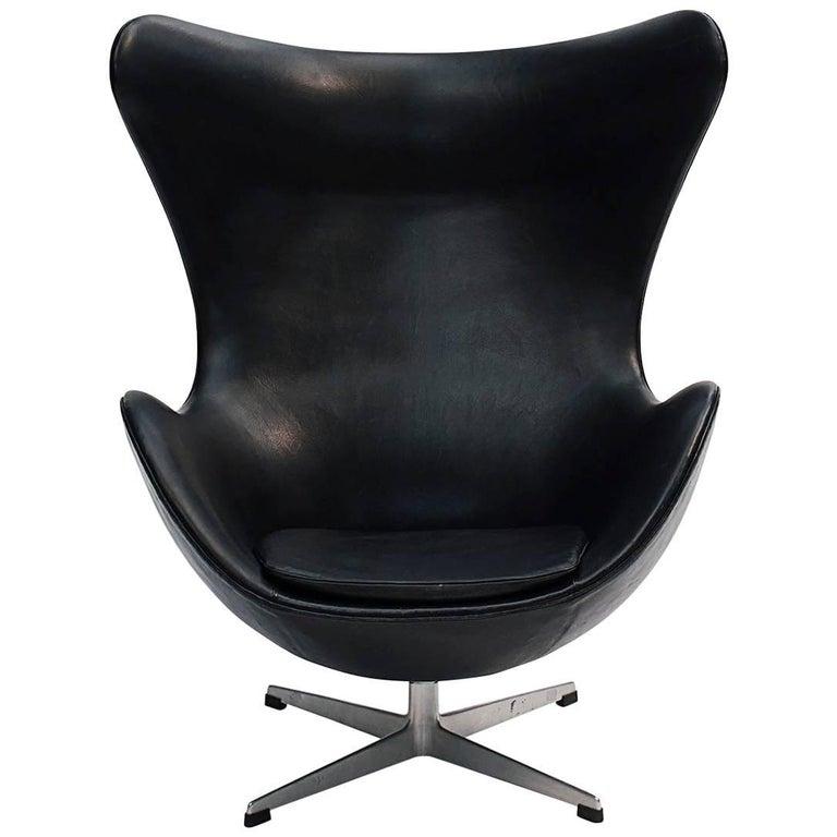 Pleasing Scandinavian Modern Arne Jacobsen Egg Chair Early Production Beutiful Home Inspiration Xortanetmahrainfo