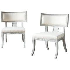Pair of Sulla Chairs, 21st Century in Gustavian Style