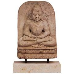 Carved Sandstone Buddha, circa 1600-1700