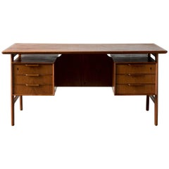 Desk, Gunni Omann Model #75 Teak for Omann Jun, Denmark, 1950s