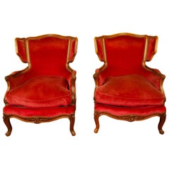 Pair of 19th Century Louis XV Style Armchairs