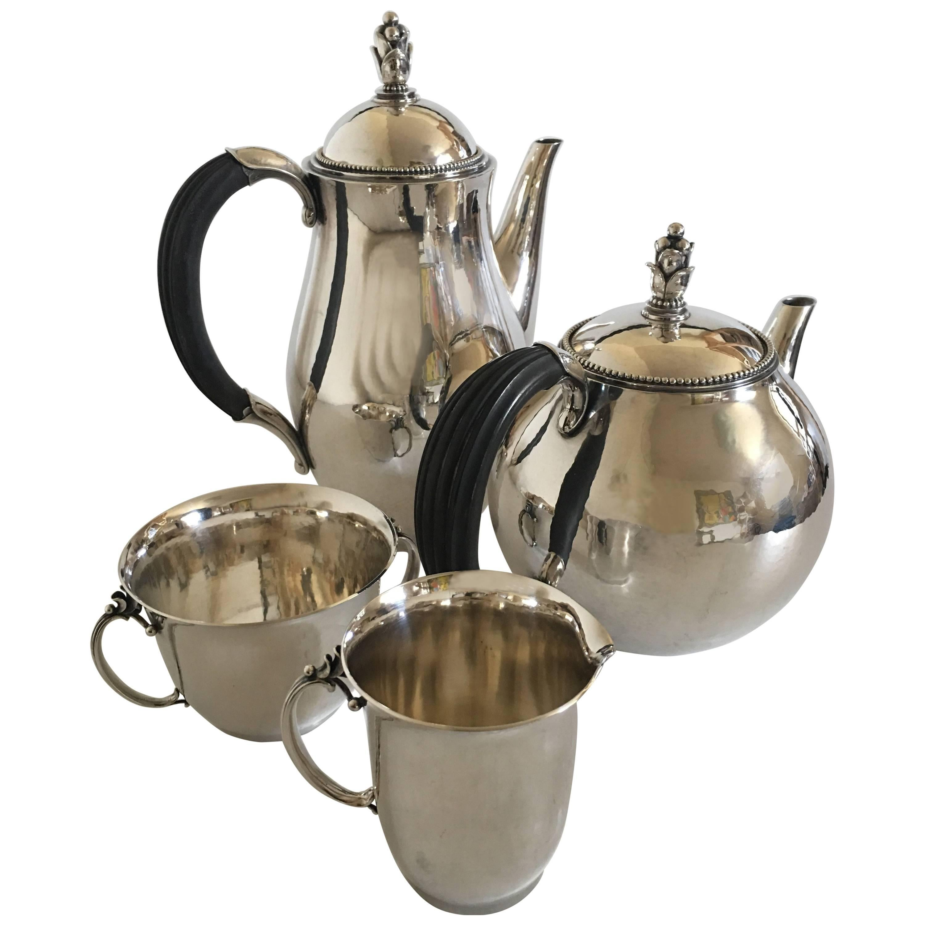 Georg Jensen Sterling Silver Coffee and Tea Set No. 456