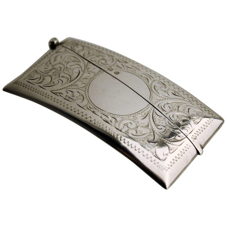 Early 20th Century Sterling Silver Business Card Holder at 1stdibs