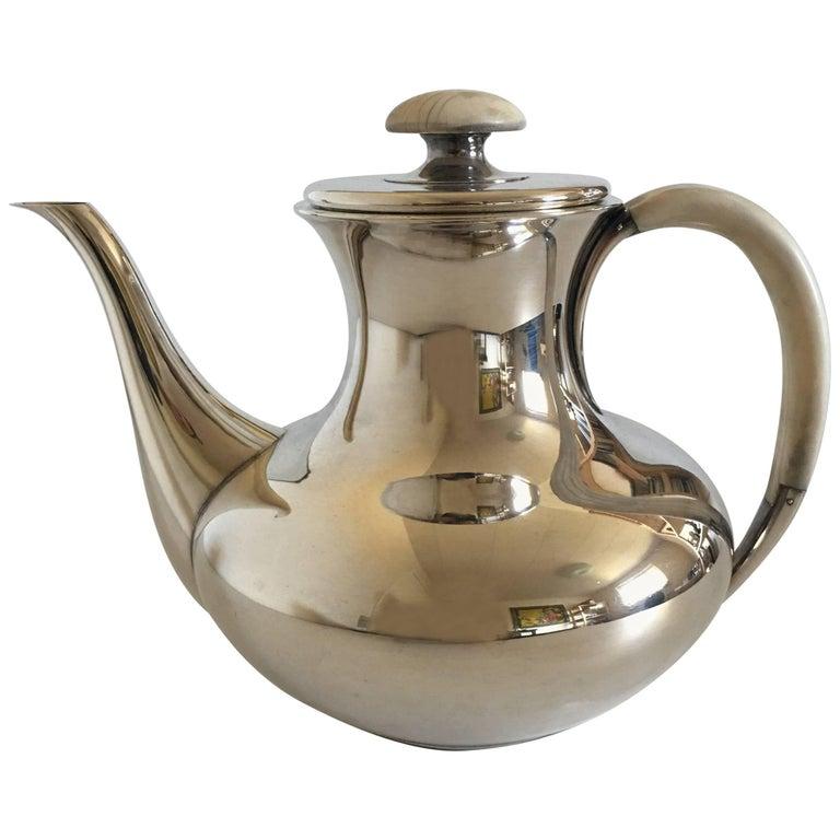 F. Hingelberg Sterling Silver Coffee Pot No. 232 C