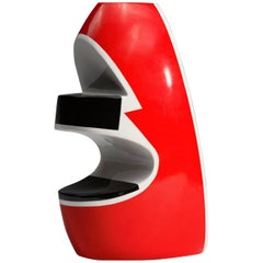 "George Sowden, Red Vase, ""Redyellowblack"" Collection, Superego Editions"