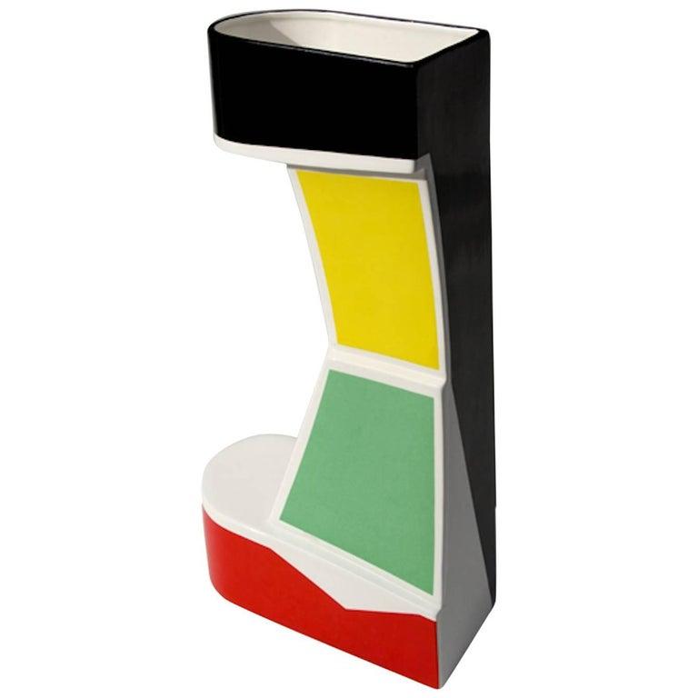 "George Sowden, Black Vase, ""RedYellowBlack"" Collection, Superego Editions"