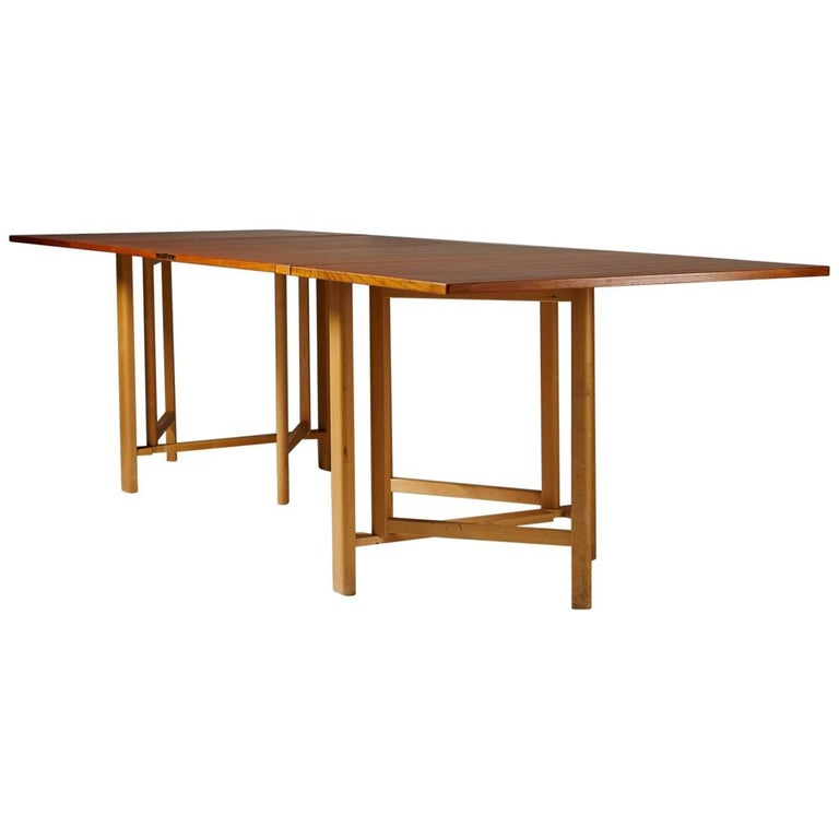 "Dining Table ""Maria Flap"" Designed by Bruno Mathsson, Sweden, 1965"