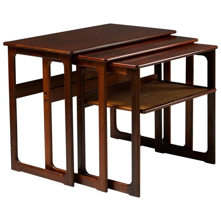 Nest of Tables Designed by Johannes Andersen for CFC Silkeborg, Denmark, 1960s