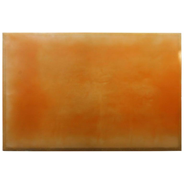 Polymer Resin Art by Tom Burrows Titled Spectre 2 Orange 1