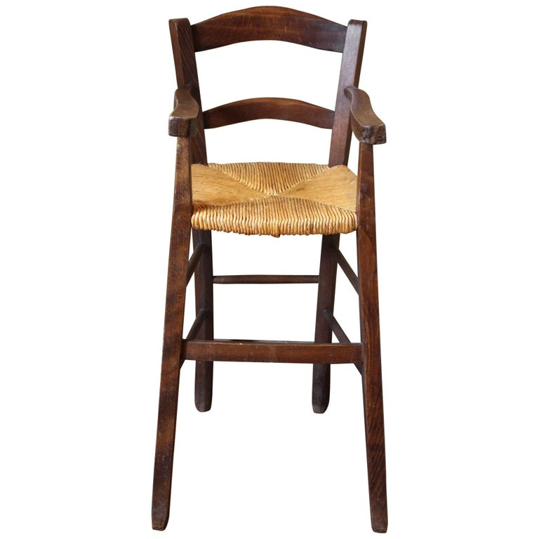 French Antique High Chair/Youth Chair For Sale - French Antique High Chair/Youth Chair At 1stdibs