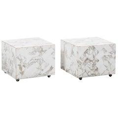 Pair of Marble Display or Side Tables