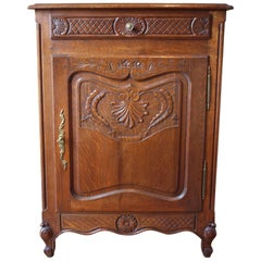 Louis XV Single Door Cabinet with Drawer