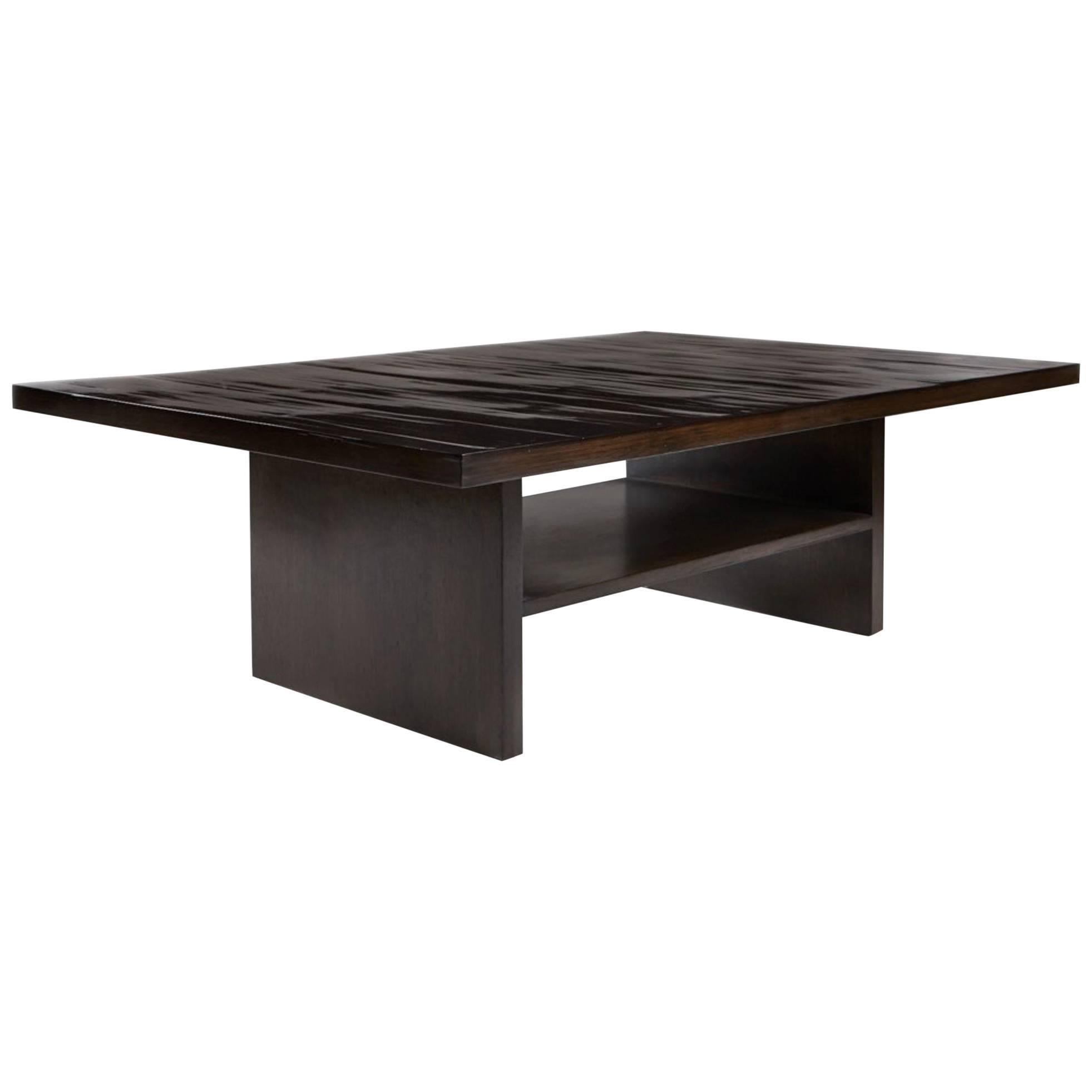Pine Coffee Table With Split Bamboo By Aguirre Design For Sale