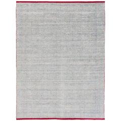 21st Century Indian Rug Wool/Bamboo Silk Blend