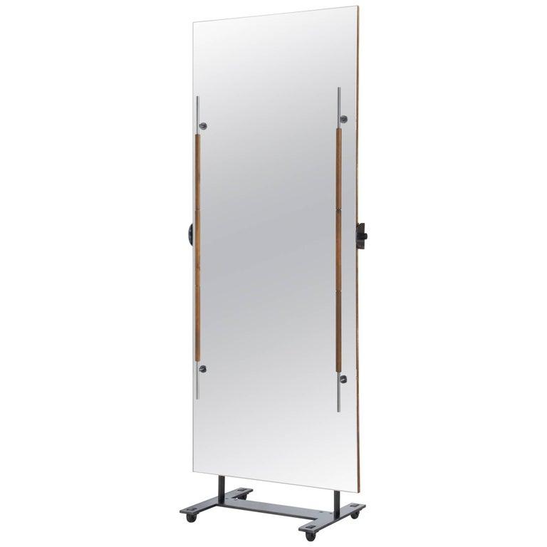 """Asas"" Self-Standing Castored Floor Mirror by Jaume Tresserra for Dessie For Sale"