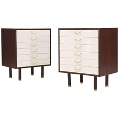 Pair of E. Gomme Two-Tone Lacquer Night Stands for G-Plan