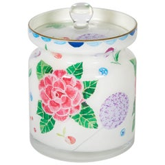 Cathy Graham Decoupage Floral Jar with Cover