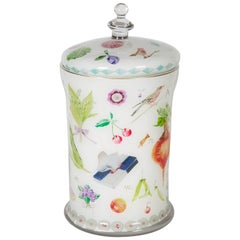 Cathy Graham Decoupage Apothecary Jar