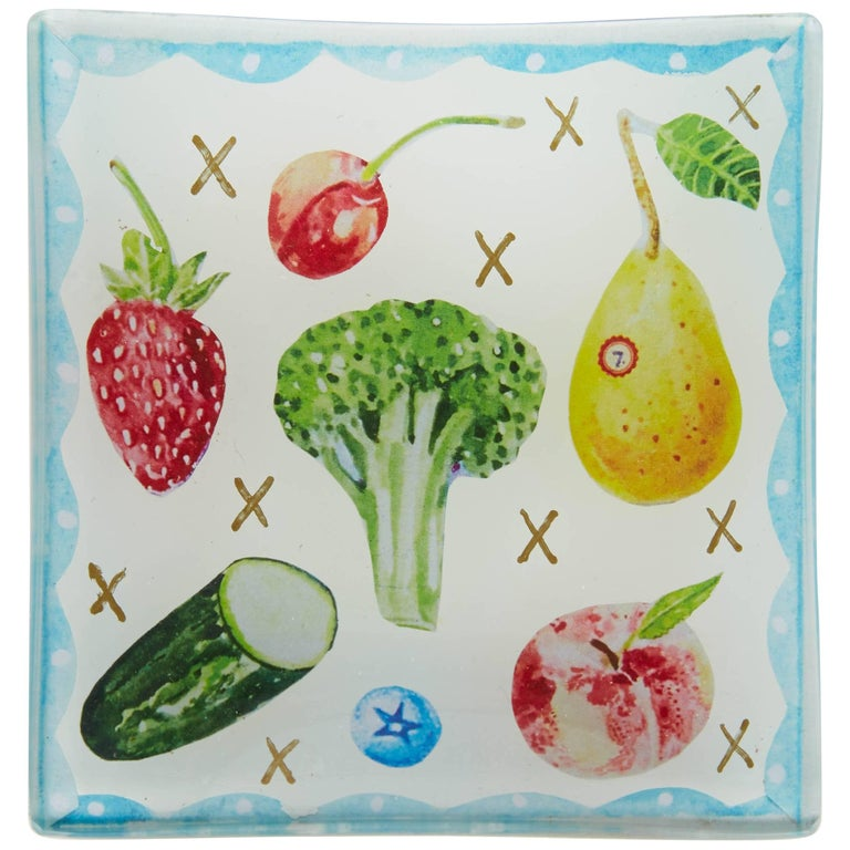 Cathy Graham Decoupage Fruit and Vegetable Small Plate 1