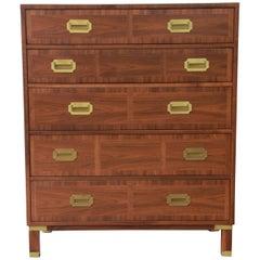 Baker Furniture Milling Road Campaign Style Highboy Dresser