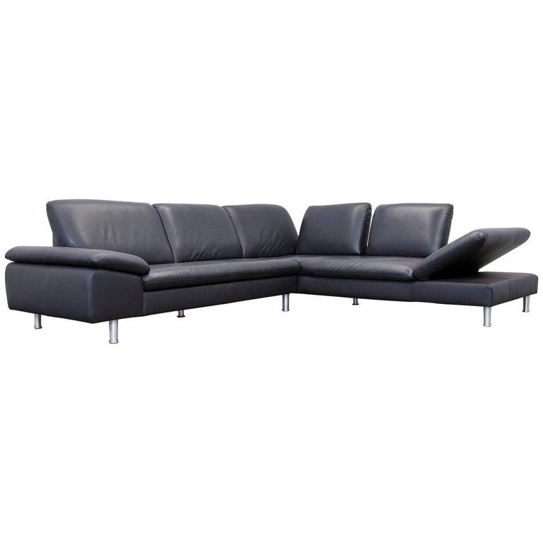 willi schillig loop leather corner couch black function. Black Bedroom Furniture Sets. Home Design Ideas